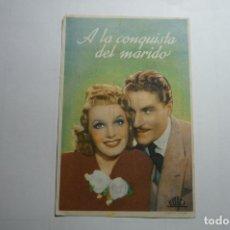 Cine: PROGRAMA A LA CONQUISTA DEL MARIDO - PUBLICIDAD CONDAL- BALAGUER??. Lote 171206333