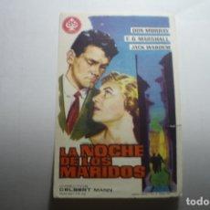 Cine: PROGRAMA LA NOCHE DE LOS MARIDOS . DON MURRAY PUBLICIDAD. Lote 171206887