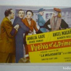 Cine: PROGRAMA VUELVA EL DIA PRIMERO .-ANALIA GADE. Lote 171211908