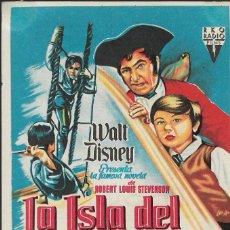 Cine: PROGRAMA DE CINE - LA ISLA DEL TESORO - ROBERT NEWTON - WALT DISNEY - CINE ALAMEDA (MÁLAGA) - 1950.. Lote 171218138