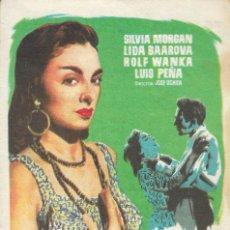Cine: PROGRAMA DE CINE - LA MESTIZA - SILVIA MORGAN, LIDA BAAROVA - TEATRO CERVANTES (MÁLAGA) - 1956.. Lote 171226453