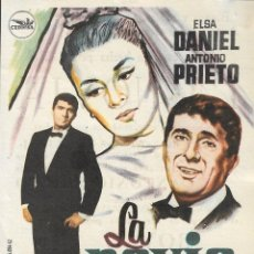Cine: PROGRAMA DE CINE - LA NOVIA - ELSA DANIEL, ANTONIO PRIETO - CINE ROYAL (MÁLAGA) - 1963.. Lote 171254488
