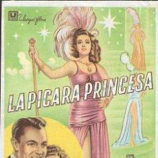 Cine: PROGRAMA DE CINE - LA PÍCARA PRINCESA - CONSTANCE MOORE, DENNIS O'KEEFE - CINE ECHEGARAY (MÁLAGA) . Lote 171304802