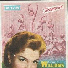 Cine: PROGRAMA DE CINE - LA PRIMERA SIRENA - ESTHER WILLIAMS - MGM - IDEAL CINEMA (LUCENA) - 1955.. Lote 171306415