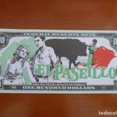 Cine: EL PASEILLO TOROS FOLLETO DE MANO ORIGINAL TROQUELADO BILLETE BANCO PERFECTO ESTADO. Lote 171330423