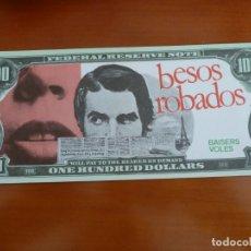 Cine: BESOS ROBADOS TRUFFAUT FOLLETO DE MANO ORIGINAL TROQUELADO BILLETE BANCO PERFECTO ESTADO. Lote 171330483
