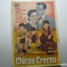Cine: PROGRAMA LOS CHICOS CRECEN - PEPITA SERRADOR PUBLICIDAD. Lote 171372577