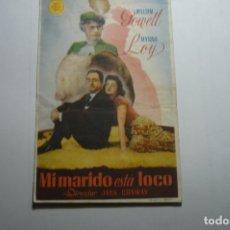 Cine: PROGRAMA MI MARIDO ESTA LOCO - WILLIAM POWELL. Lote 171372588