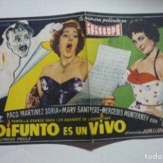 Cine: PROGRAMA GRANDE EL DIFUNTO ES UN VIVO - PACO MARTINEZ SORIA PUBLICIDAD. Lote 171372607