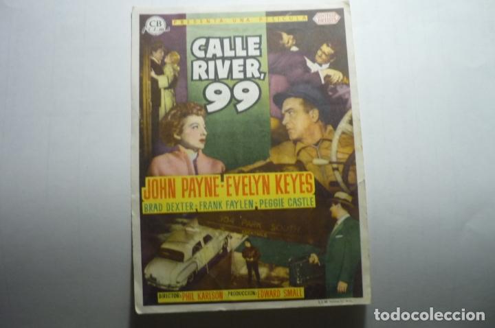 PROGRAMA CALLE RIVER 99 - JOHN PAYNE PUBLICIDAD (Cine - Folletos de Mano - Acción)