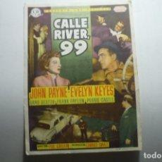 Cine: PROGRAMA CALLE RIVER 99 - JOHN PAYNE PUBLICIDAD. Lote 171373073
