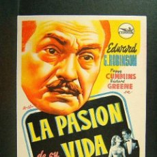 Cine: LA PASION DE SU VIDA-GREGORY RATOFF-EDWARD G. ROBINSON-PEGGY CUMMINS-RICHARD GREENE-AÑOS 40. . Lote 171406568