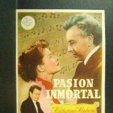 Cine: PASION INMORTAL-CLARENCE BROWN-KATHARINE HEPBURN-PAUL HENREID-ROBERT WALKER-CINE ORIENTE-GERONA-1949. Lote 171407087