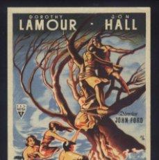 Cine: P-8077- HURACÁN SOBRE LA ISLA (THE HURRICANE) DOROTHY LAMOUR - JON HALL - MARY ASTOR. Lote 171413188