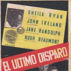 Folhetos de mão de filmes antigos de cinema: EL ULTIMO DISPARO. Lote 171423068