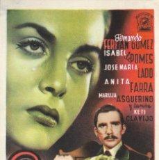 Cine: PROGRAMA DE CINE - LA SIRENA NEGRA - FERNANDO FERNÁN GÓMEZ, ISABEL DE POMES - CINE AVENIDA (MÁLAGA) . Lote 171449315