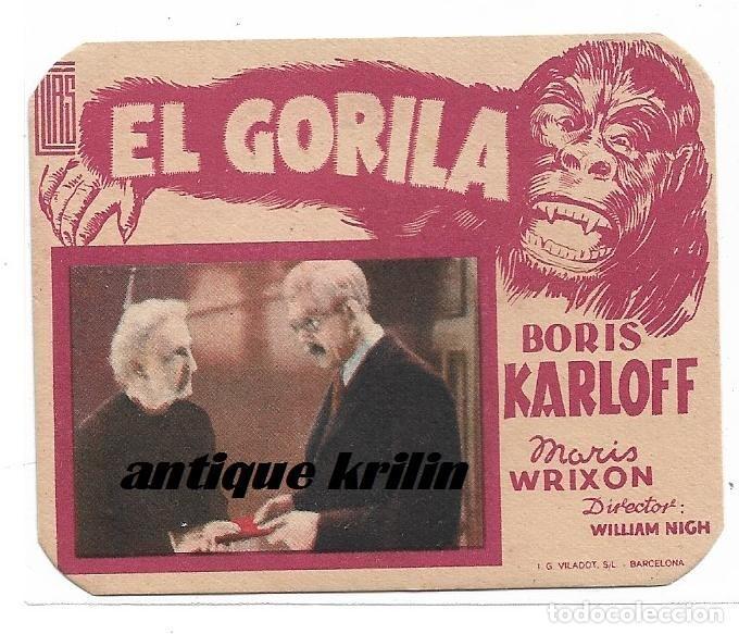 EL GORILA .- BORIS KARLOFF .- IDEAL CINEMA DE BENICARLÓ (Cine - Folletos de Mano - Terror)
