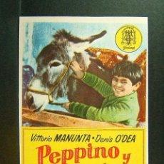 Cine: PEPPINO Y VIOLETA-MAURICE CLOCHE-VITTORIO MANUNTA-DENIS O'DEA-CINE ORIENTE-GERONA-AÑOS 40.. Lote 171516123