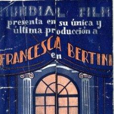 Cine: EL FIN DE MONTECARLO AÑO 1926. PROGRAMA TRIPLE GRANDE. ORIGINAL DE ÉPOCA. POR FRANCESCA BERTINI...... Lote 171517405
