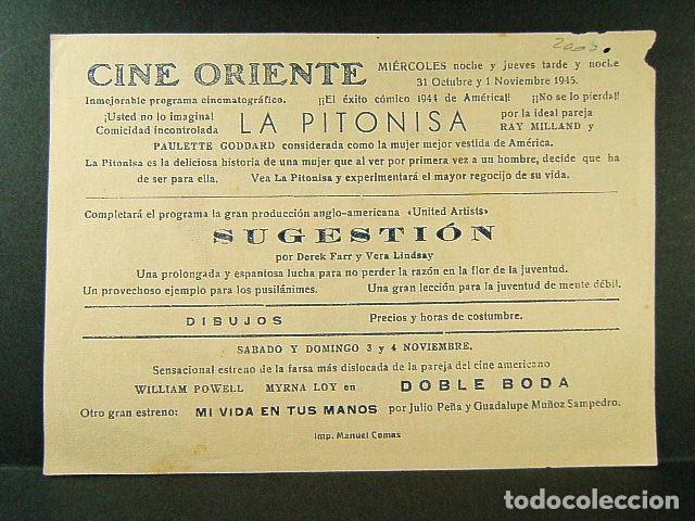 Cine: LA PITONISA-PAULETTE GODDARD-RAY MILLAND-CINE ORIENTE-1944. - Foto 2 - 171554393