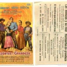 Cine: HORIZONTES DE GRANDEZA, CON GREGORY PECK. C/I.. Lote 171711250