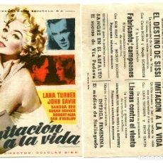 Cine: IMITACIÓN A LA VIDA, CON LANA TURNER.. Lote 171712394