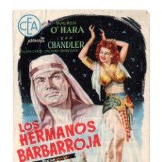 Cine: LOS HERMANOS BARBARROJA. SENCILLO DE CEA. Lote 171714930