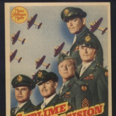 Cine: P-8118- SUBLIME DECISIÓN (COMMAND DECISION) CLARK GABLE - WALTER PIDGEON - VAN JOHNSON. Lote 171724809