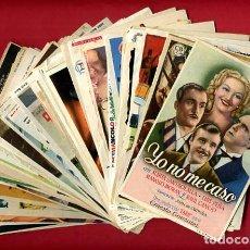 Cine: LOTE DE 120 PROGRAMAS DE CINE ANTIGUOS , CON CINE IMPRESO EN REVERSO , VER FOTOS , ORIGINALES , L74. Lote 171824987