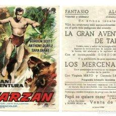 Cine: LA GRAN AVENTURA DE TARZÁN, CON GORDON SCOTT.. Lote 190483886