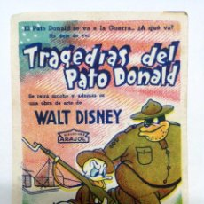 Cine: PROGRAMA CINE. TRAGEDIAS DEL PATO DONALD. WALT DISNEY. ARAJOL. SIN CINE.. Lote 171993913