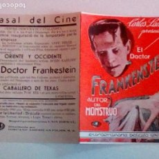 Cine: EL DOCTOR FRANKENSTEIN. BORIS KARLOFF. Lote 172090019