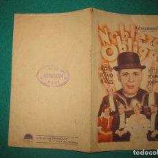 Cine: PROGRAMA DE CINE. NOBLEZA OBLIGA. CHARLES LAUGHTON.MARY BOLAND. TEATRO CINE DOMENECH. RUBI... Lote 172345909
