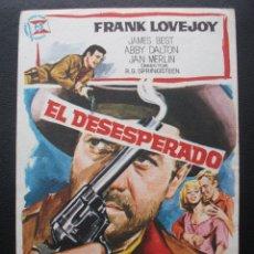 Folhetos de mão de filmes antigos de cinema: EL DESESPERADO, FRANK LOVEJOY. Lote 172354004