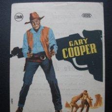 Cine: HOMBRE DEL OESTE, GARY COOPER, CINE TARRAGONA. Lote 219256856