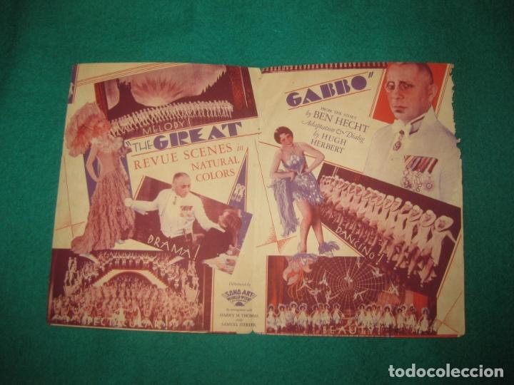 Cine: PROGRAMA DE CINE. THE GREAT GABBO (EL OTRO YO) DIRECTED BY JAMES CRUZE. 1930. - Foto 2 - 172468143