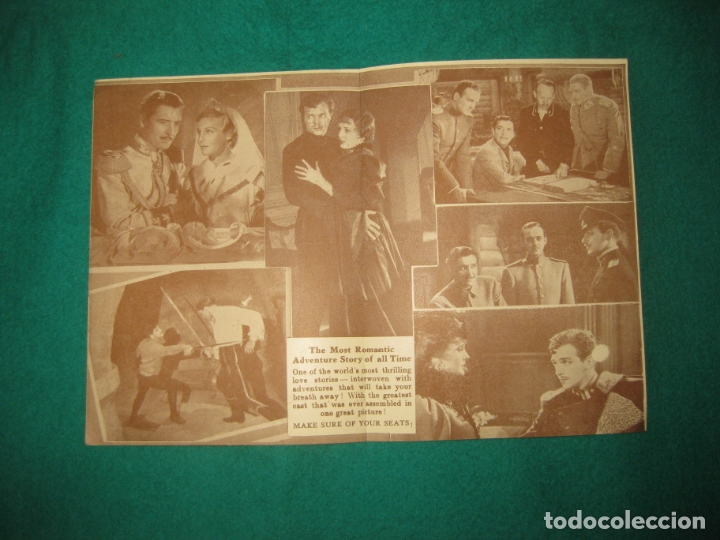 Cine: PROGRAMA DE CINE. THE PRISONER OF ZENDA. RONALD COLMAN. MADELEINE CARROL. ODEON THEATRE NEWPORT. - Foto 2 - 172471482