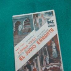Cine: PROGRAMA DE CINE. EL JUDIO ERRANTE. CONRAD VEIDT. PATHE CINEMA.. Lote 172476694