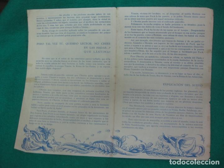 Cine: PROGRAMA DE CINE. EL SUEÑO DE UNA NOCHE DE VERANO. MIKEY ROONEY. CINE VICTORIA 1942. - Foto 2 - 172483249