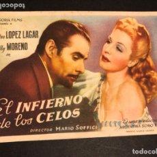 Cine: PROGRAMA EL INFIERNO DE LOS CELOS.ZULLY MORENO.CON PUBLICIDAD. Lote 172588025