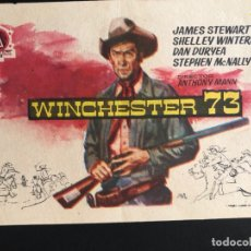 Cine: PROGRAMA WINCHESTER 73.JAME STEWART.CON PUBLICIDAD. Lote 172627470