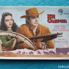 Cine: KIT CARSON. JOHN HALL, LYNN BARI, DANA ANDREWS... . Lote 172630985