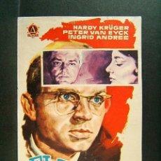 Cine: EL RESTO ES SILENCIO-HELMUT KAUTNER-HARDY KRÜGER-PETER VAN EYCK-INGRID ANDREE-1960.. Lote 172654544