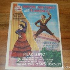Cine: DUENDE Y MISTERIO DEL FLAMENCO (1955), CENTRAL CINEMA. Lote 172680569