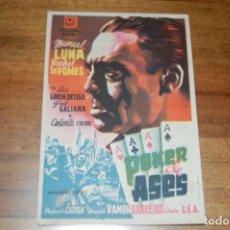Cine: POQUER DE ASES, CINE CAPITOL (1948). Lote 172682322