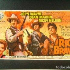 Cine: RIO BRAVO-HOWARD HAWKS-JOHN WAYNE-DEAN MARTIN-RICKY NELSON-ANGIE DICKINSON-CINE ESPAÑOL-NAVAS-1960. . Lote 172754825