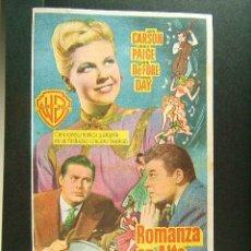 Cine: ROMANZA EN ALTA MAR-MICHAEL CURTIZ-JACK CARSON-JANIS PAIGE-CINEMA VICTORIA-SAN FELIU DE GUIXOLS-1952. Lote 172781445