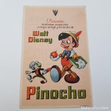 Cine: PROGRAMA ORIGINAL PINOCHO, WALT DISNEY, CINE COLISEO OLIMPIA, GRANADA, OCTUBRE 1945. Lote 172945673