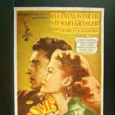 Cine: SALOME-WILLIAM DIETERLE-RITA HAYWORTH-STEWART GRANGER-CHARLES LAUGHTON-CINE MERCANTIL-BAÑOLAS-1954. . Lote 173022199