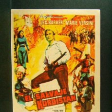 Cine: EL SALVAJE DE KURDISTAN-KARL MAY-F. J. GOTTLIEB-LEX BARKER-MARIE VERSINI-TEATRO GALINDO-CIEZA-1966.. Lote 181405032